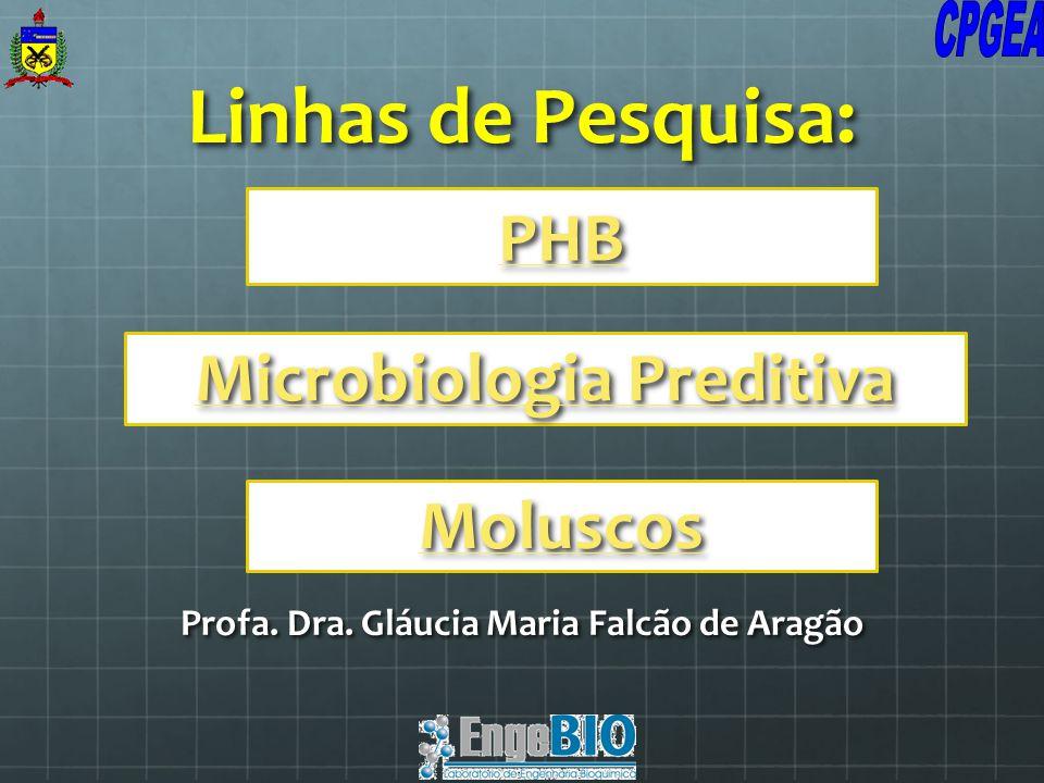 Linhas de Pesquisa: Profa. Dra. Gláucia Maria Falcão de Aragão PHB Microbiologia Preditiva Moluscos