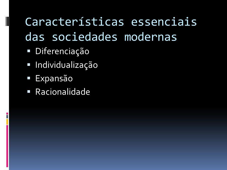 Críticas à modernidade Recusava basear a ordem social nas premissas básicas da modernidade Que as premissas pudessem ser radicadas numa visão transcendental Que pudesse ser visto como o auge da criatividade humana