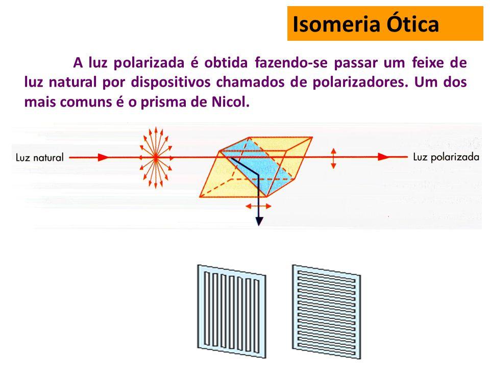 A luz polarizada é obtida fazendo-se passar um feixe de luz natural por dispositivos chamados de polarizadores.