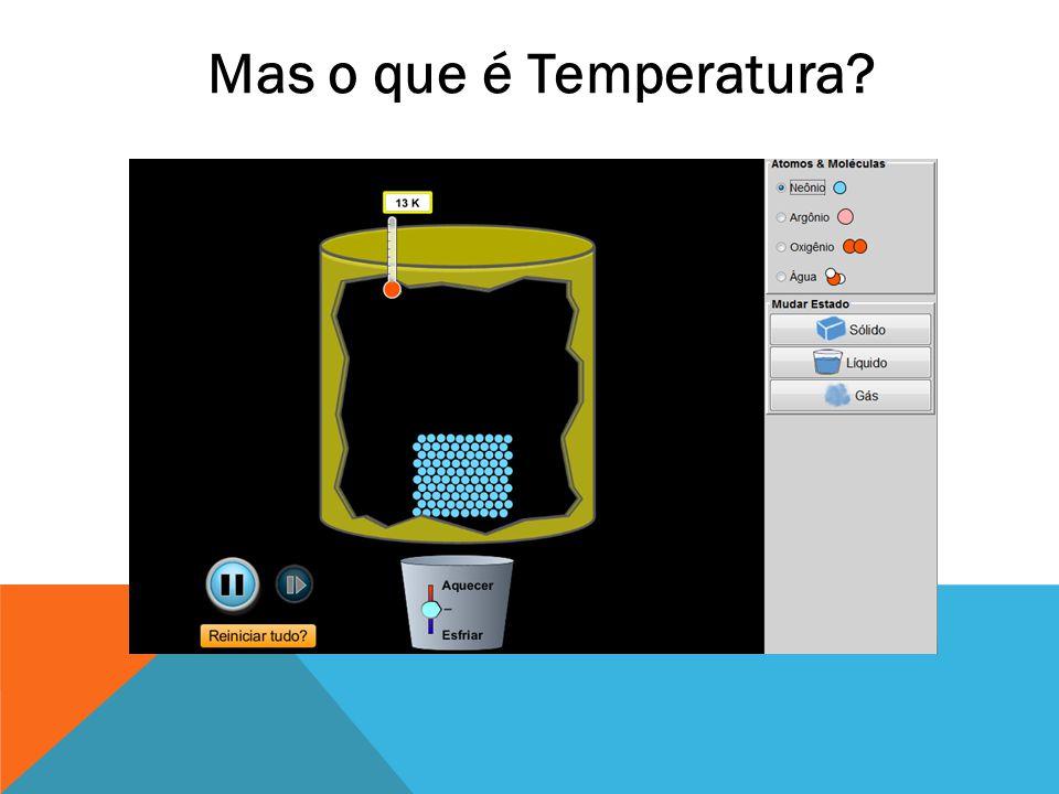 Mas o que é Temperatura?