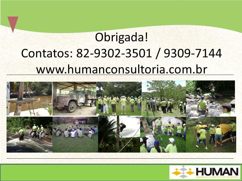 Obrigada! Contatos: 82-9302-3501 / 9309-7144 www.humanconsultoria.com.br