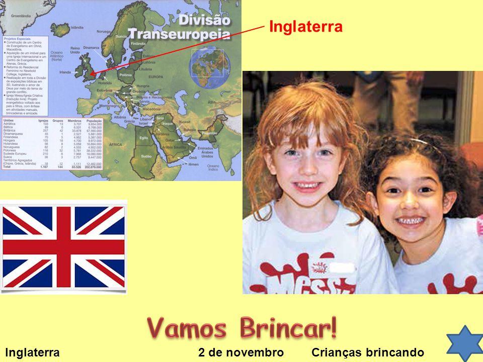 Inglaterra 2 de novembro Crianças brincando Inglaterra