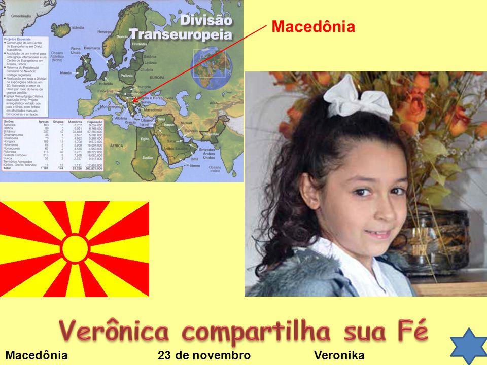 Macedônia 23 de novembro Veronika Macedônia