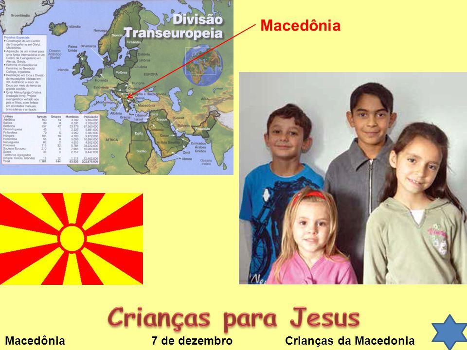 Macedônia 7 de dezembroCrianças da Macedonia Macedônia