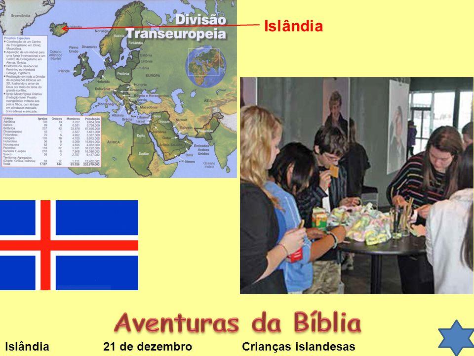 Islândia 21 de dezembroCrianças islandesas Islândia