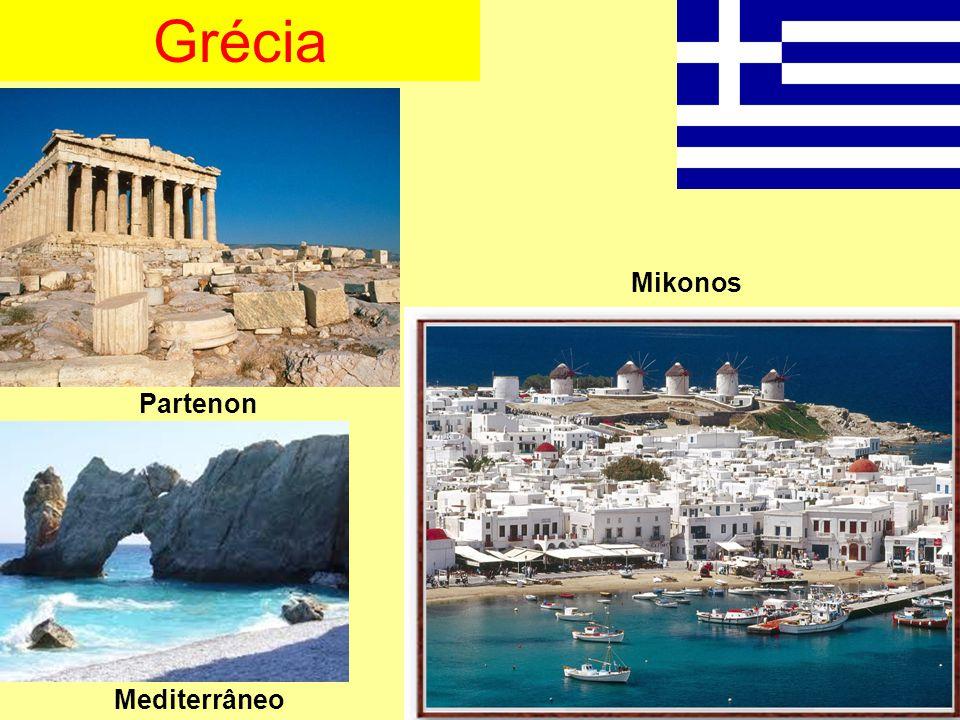 Grécia Partenon Mikonos Mediterrâneo