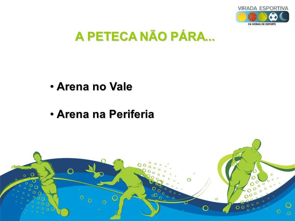 A PETECA NÃO PÁRA... Arena no Vale Arena no Vale Arena na Periferia Arena na Periferia