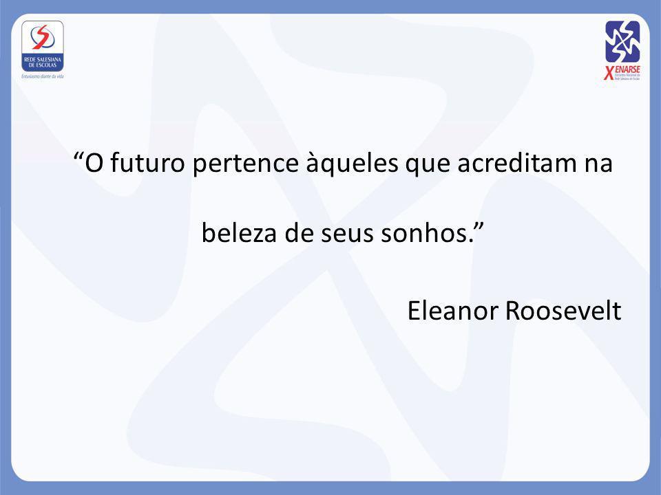 O futuro pertence àqueles que acreditam na beleza de seus sonhos. Eleanor Roosevelt