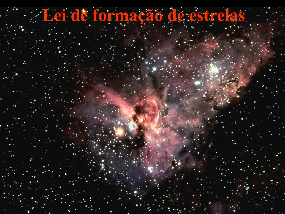 B F K M O Carinae ASirius GSol Lei de formação