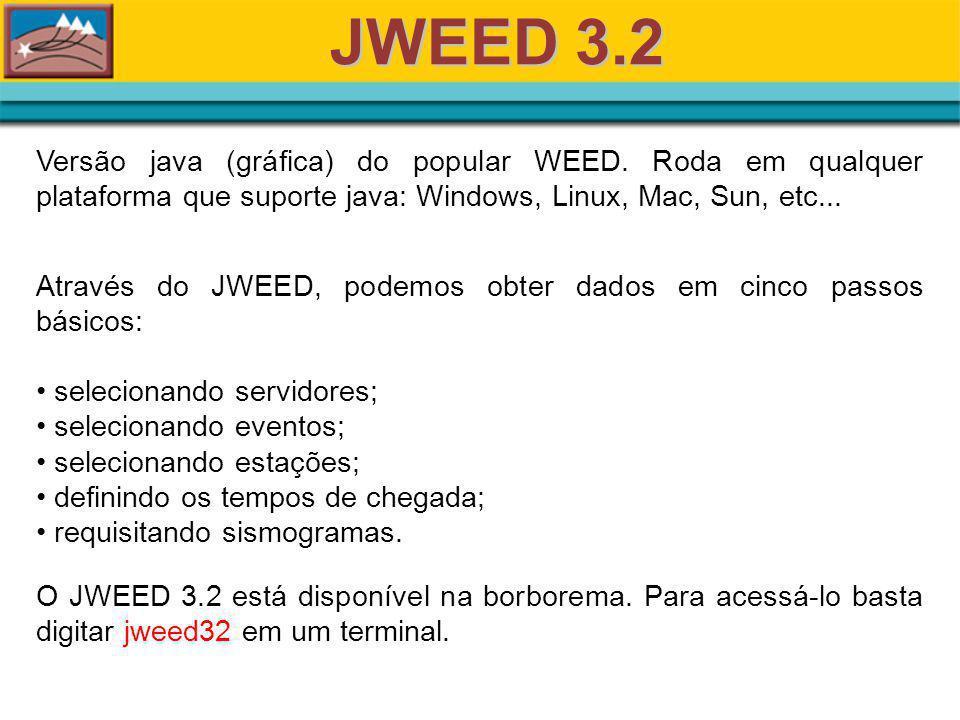 JWEED 3.2 Versão java (gráfica) do popular WEED.