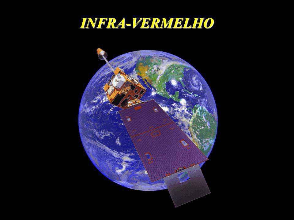 ~ Ts 4 ~ Tn 4 No Infravermelho a radiação não penetra as nuvens, logo o Satélite esta medindo a emissão do topo da nuvem.