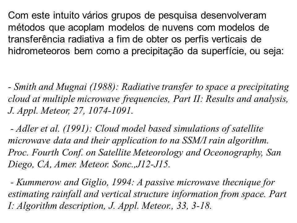 Com este intuito vários grupos de pesquisa desenvolveram métodos que acoplam modelos de nuvens com modelos de transferência radiativa a fim de obter o