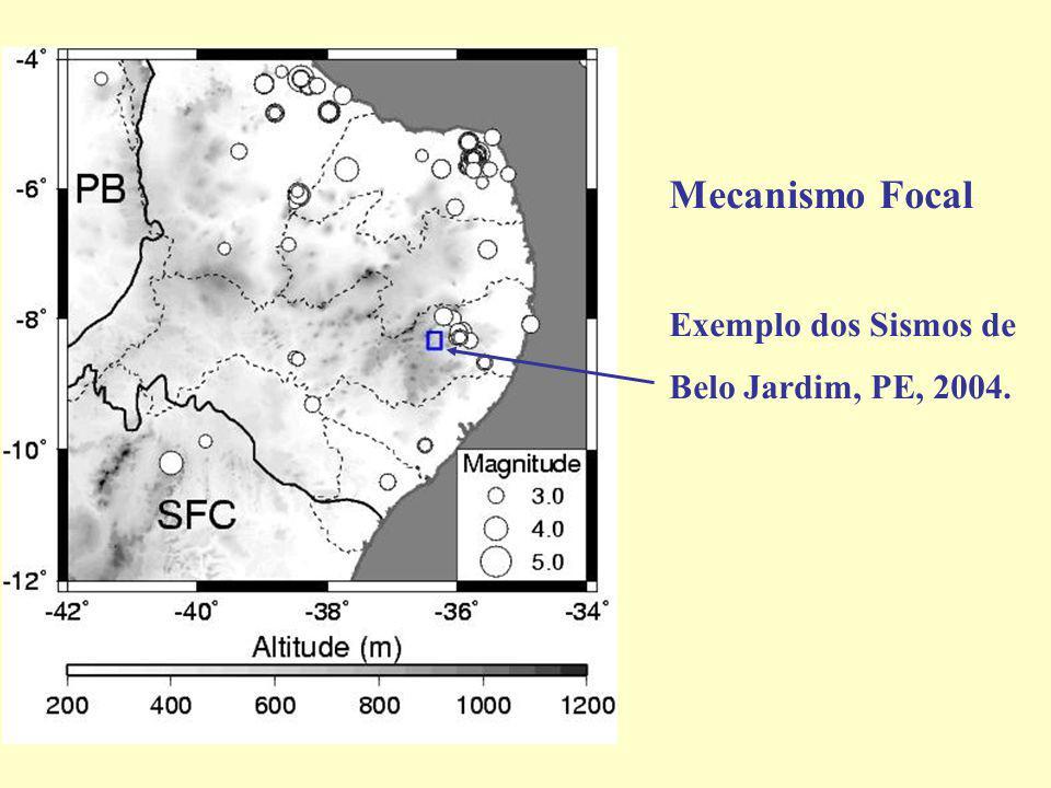 Sismos relacionados ao lineamento de Pernambuco.
