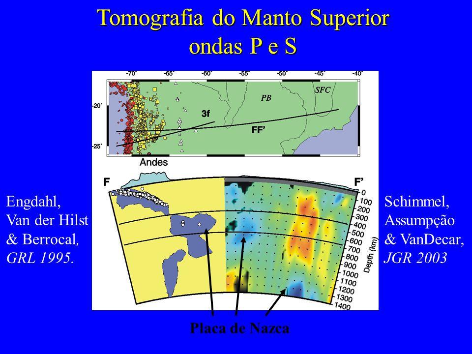Tomografia do Manto Superior ondas P e S Engdahl, Van der Hilst & Berrocal, GRL 1995.