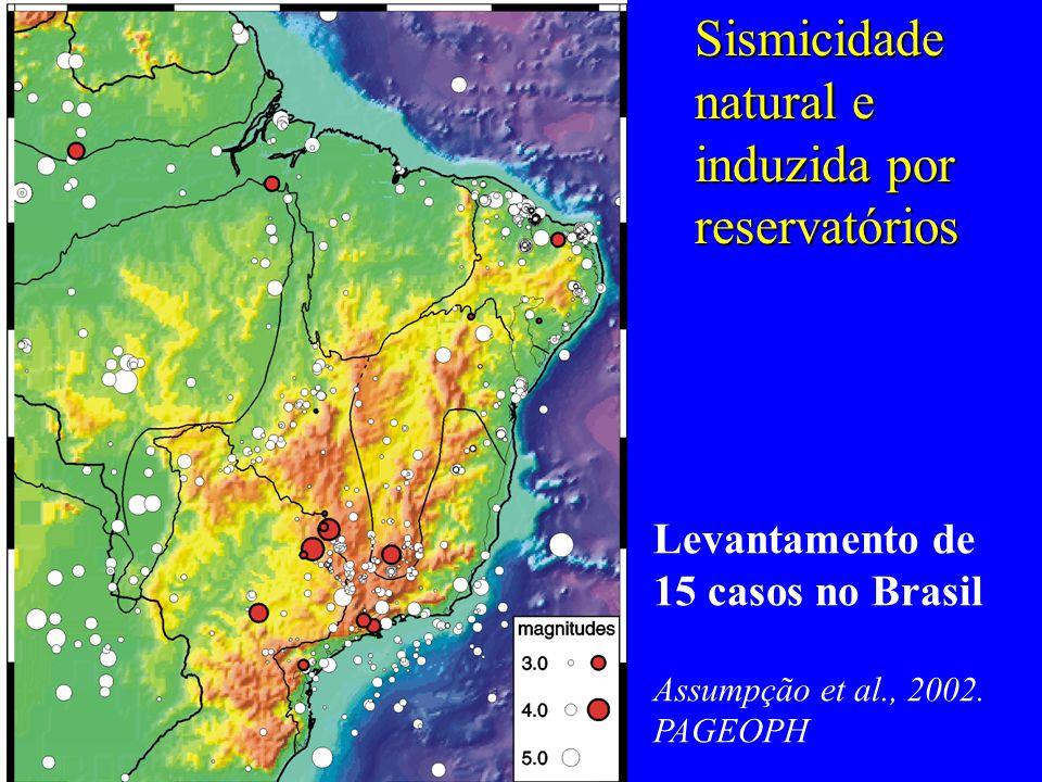 Mecanismos focais e tensões intraplaca - 1 MS, 1 DR concluído - 1 DR em andamento Geophys.