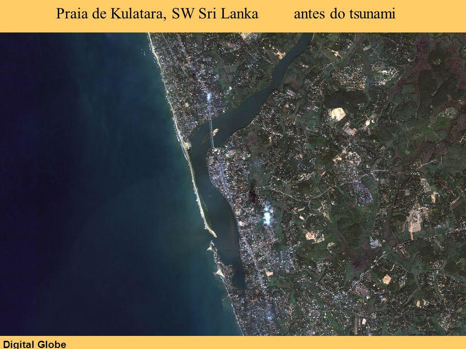 Digital Globe Praia de Kulatara, SW Sri Lanka antes do tsunami