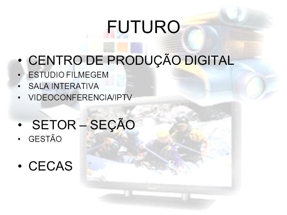 FUTURO CENTRO DE PRODUÇÃO DIGITAL ESTUDIO FILMEGEM SALA INTERATIVA VIDEOCONFERENCIA/IPTV SETOR – SEÇÃO GESTÃO CECAS
