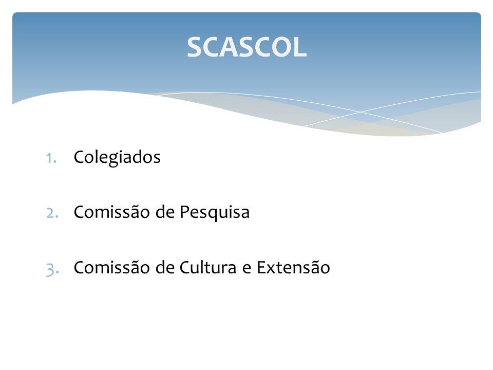 1.Colegiados 2.Comissão de Pesquisa 3.Comissão de Cultura e Extensão SCASCOL