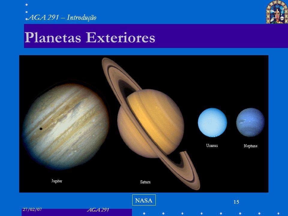 27/02/07 AGA 291 AGA 291 – Introdução 15 Planetas Exteriores NASA