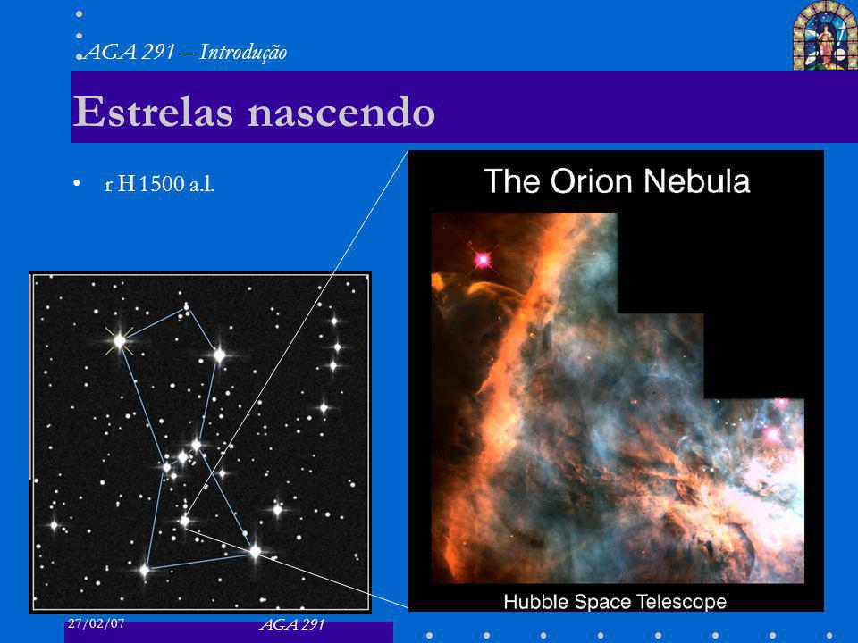 27/02/07 AGA 291 AGA 291 – Introdução 25 Estrelas nascendo r 1500 a.l.