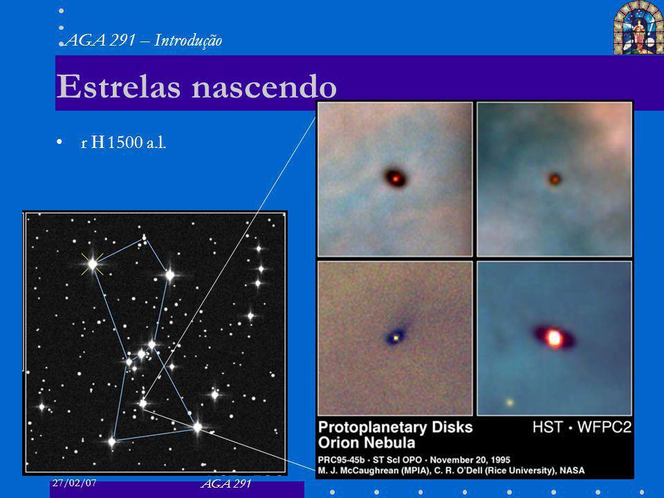 27/02/07 AGA 291 AGA 291 – Introdução 26 Estrelas nascendo r 1500 a.l.
