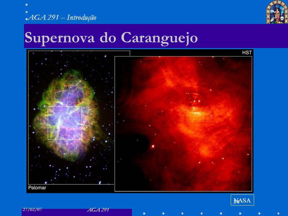 27/02/07 AGA 291 AGA 291 – Introdução 34 Supernova do Caranguejo NASA