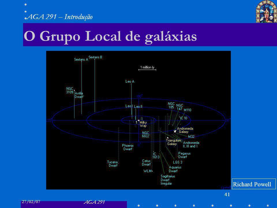 27/02/07 AGA 291 AGA 291 – Introdução 41 O Grupo Local de galáxias Richard Powell