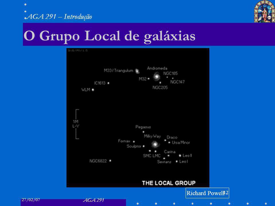 27/02/07 AGA 291 AGA 291 – Introdução 42 O Grupo Local de galáxias Richard Powell