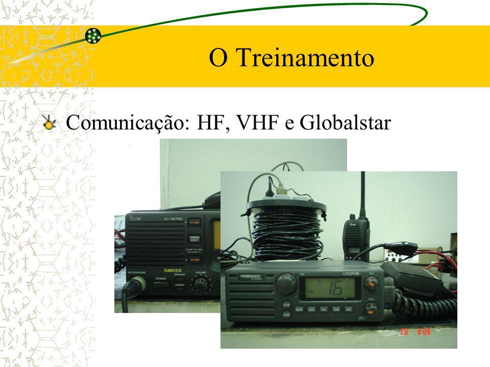 O Treinamento Comunicação: HF, VHF e Globalstar