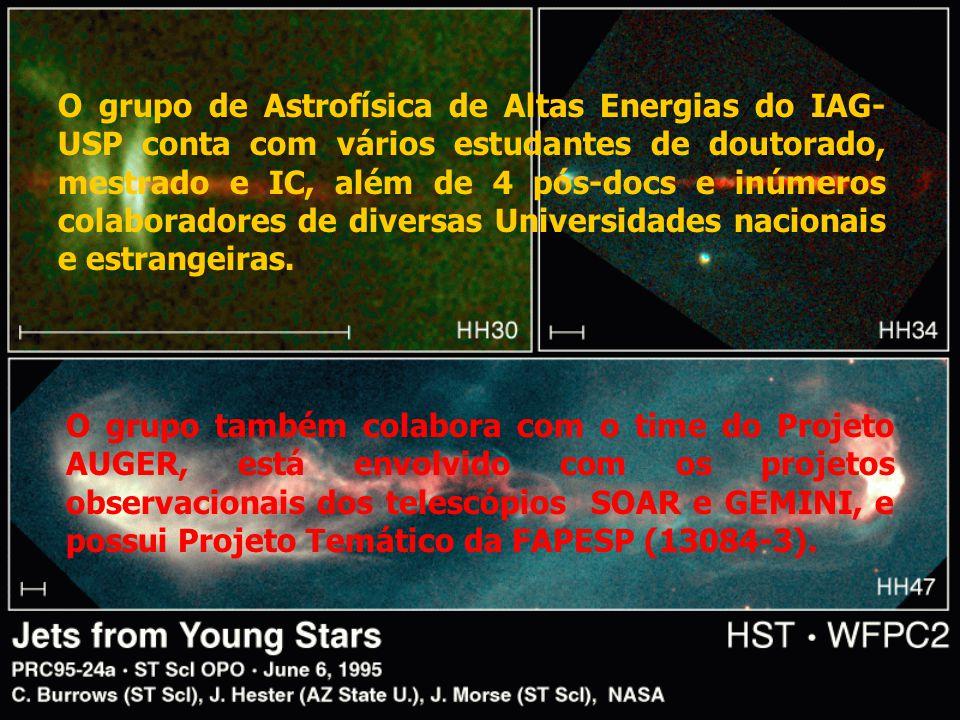 O grupo de Astrofísica de Altas Energias do IAG- USP conta com vários estudantes de doutorado, mestrado e IC, além de 4 pós-docs e inúmeros colaborado