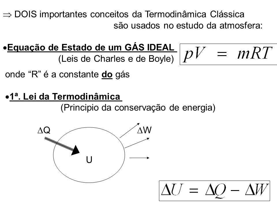 onde R é a constante do gás 1ª.