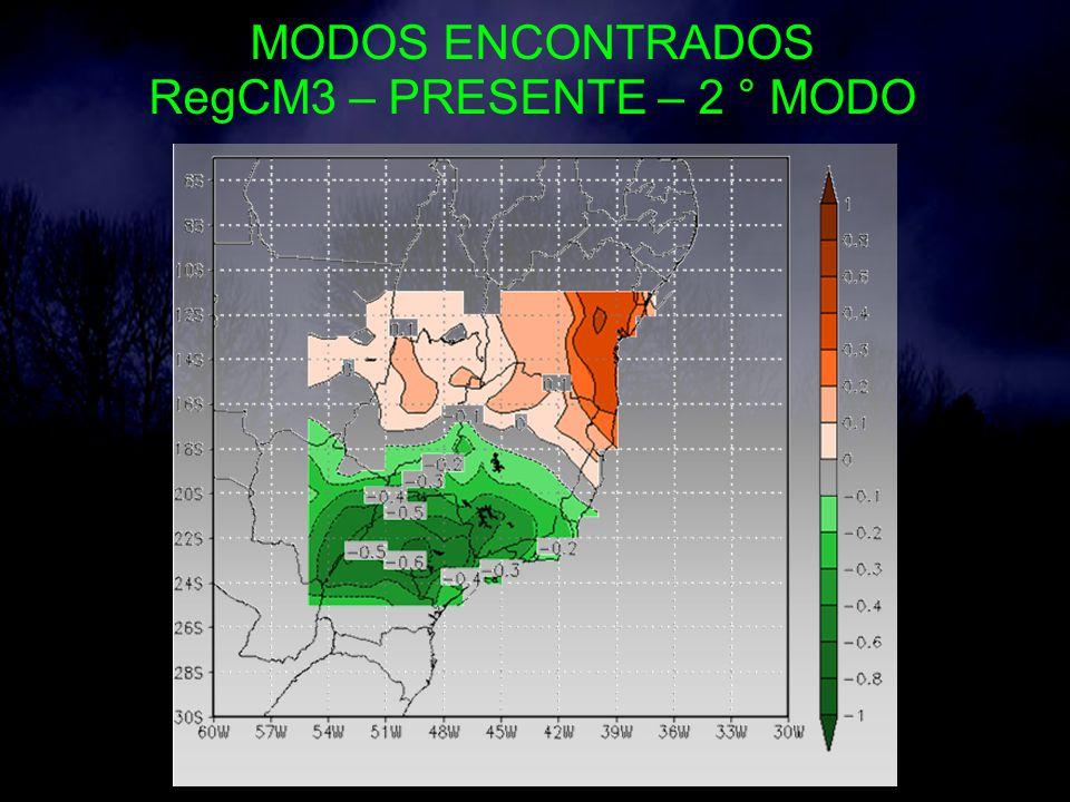 MODOS ENCONTRADOS RegCM3 – PRESENTE – 2 ° MODO