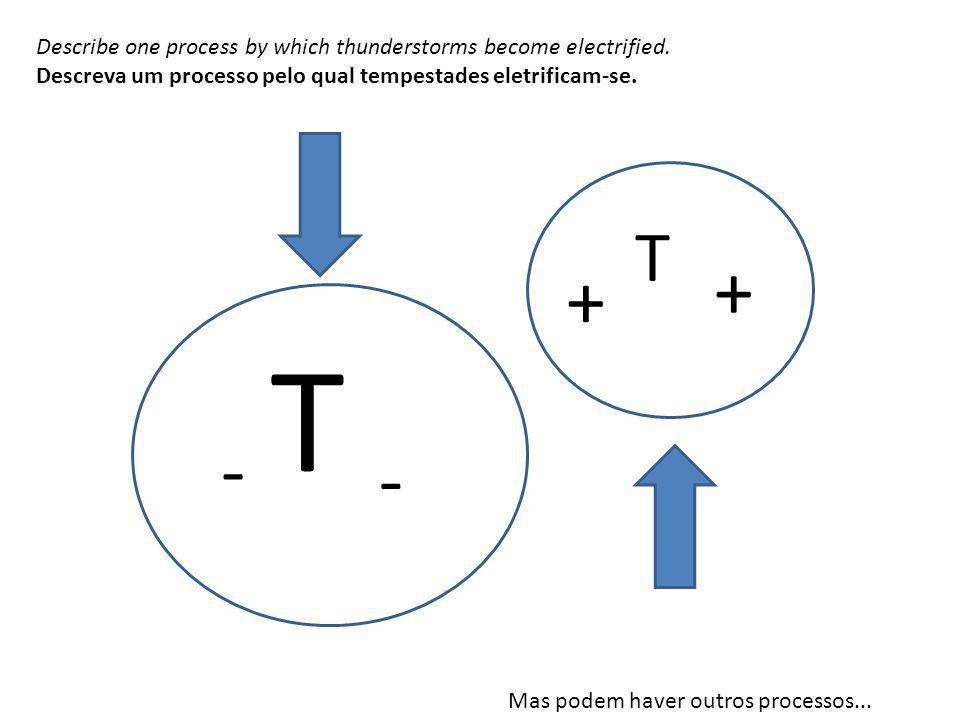 Describe one process by which thunderstorms become electrified.