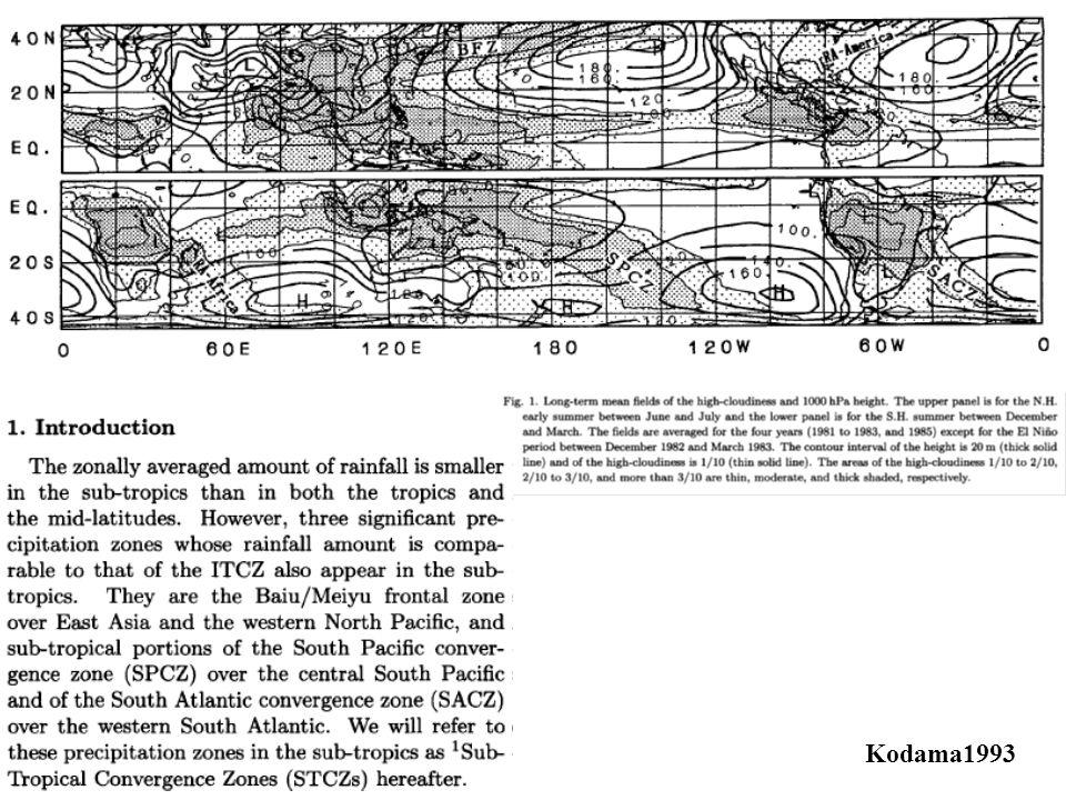 Definida como uma persistente banda de nebulosidade e precipitação com orientação noroeste-sudeste, que se estende desde o sul e leste da Amazônia até o sudoeste do Oceano Atlântico Sul (Kodama 1992, 1993; Satyamurti et al, 1998; Liebmann et al, 2001; Carvalho et al, 2002a, 2004).