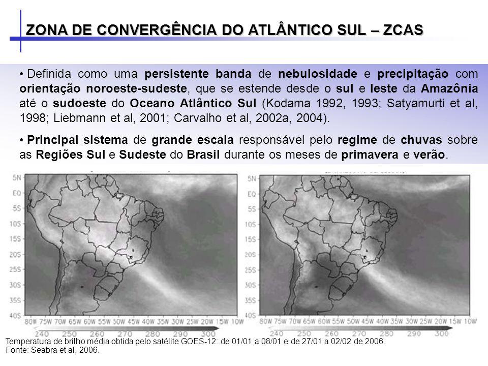 Forte indício de confluência entre o ar da Alta Subtropical do Atlântico Sul e o ar oriundo de latitudes mais altas.