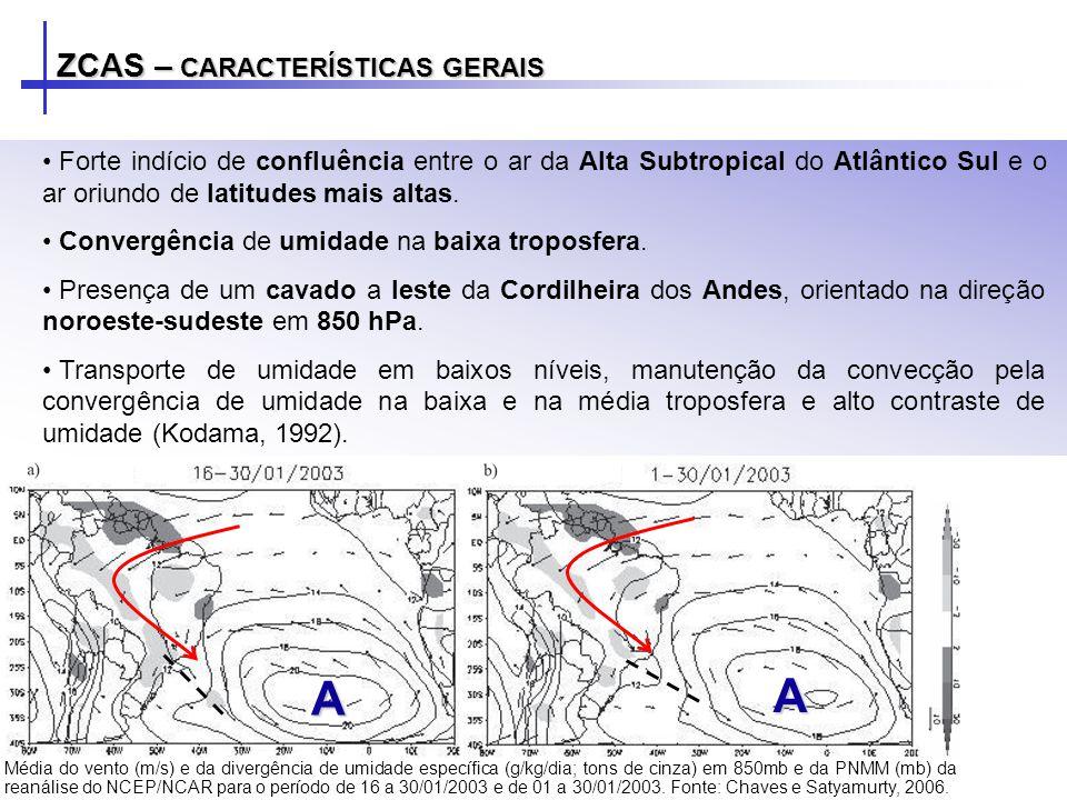 Forte indício de confluência entre o ar da Alta Subtropical do Atlântico Sul e o ar oriundo de latitudes mais altas. Convergência de umidade na baixa