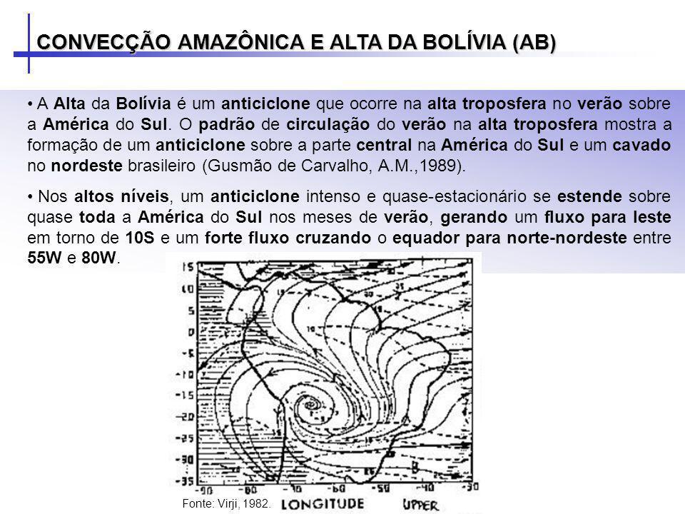 A Alta da Bolívia é um anticiclone que ocorre na alta troposfera no verão sobre a América do Sul. O padrão de circulação do verão na alta troposfera m