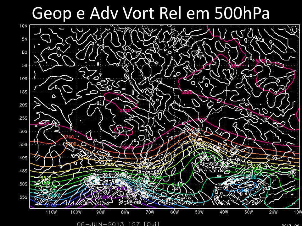 Geop e Adv Vort Rel em 500hPa