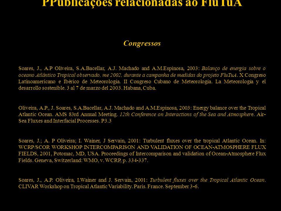 14 PPublicações relacionadas ao FluTuA Revista internacional especializada com arbitragem Wainer, I., A.Taschetto, J.Soares, A.P.Oliveira, B.Otto-Blie