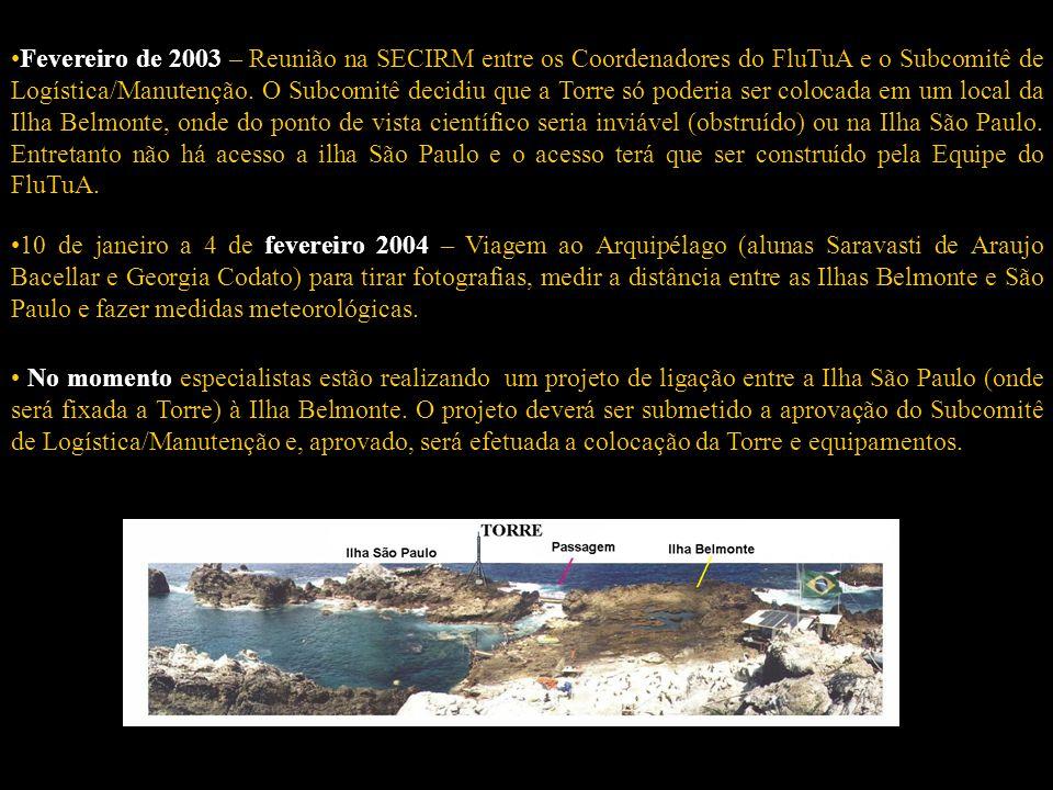 18 18 de junho de 1999 – Encaminhamento do FluTuA. 17 de dezembro de 1999 – Aprovado seu mérito científico pelo Sub Comitê Científico/Ambiental (SCA).