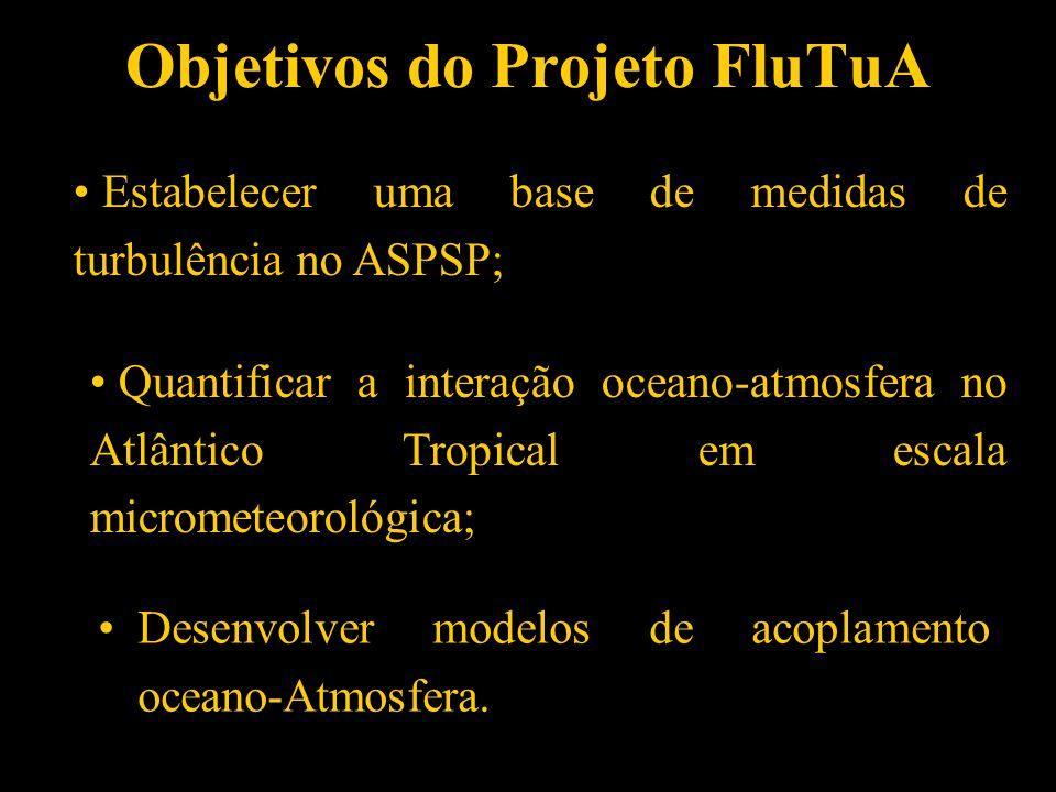 1 PROJETO FluTuA E SUA IMPLEMENTAÇÃO (Fluxos Turbulentos sobre o Atlântico) J acyra Soares Amauri Pereira de Oliveira Grupo de Micrometeorologia Grupo
