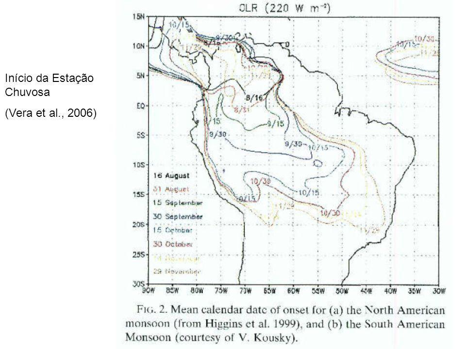 Início da Estação Chuvosa (Vera et al., 2006)