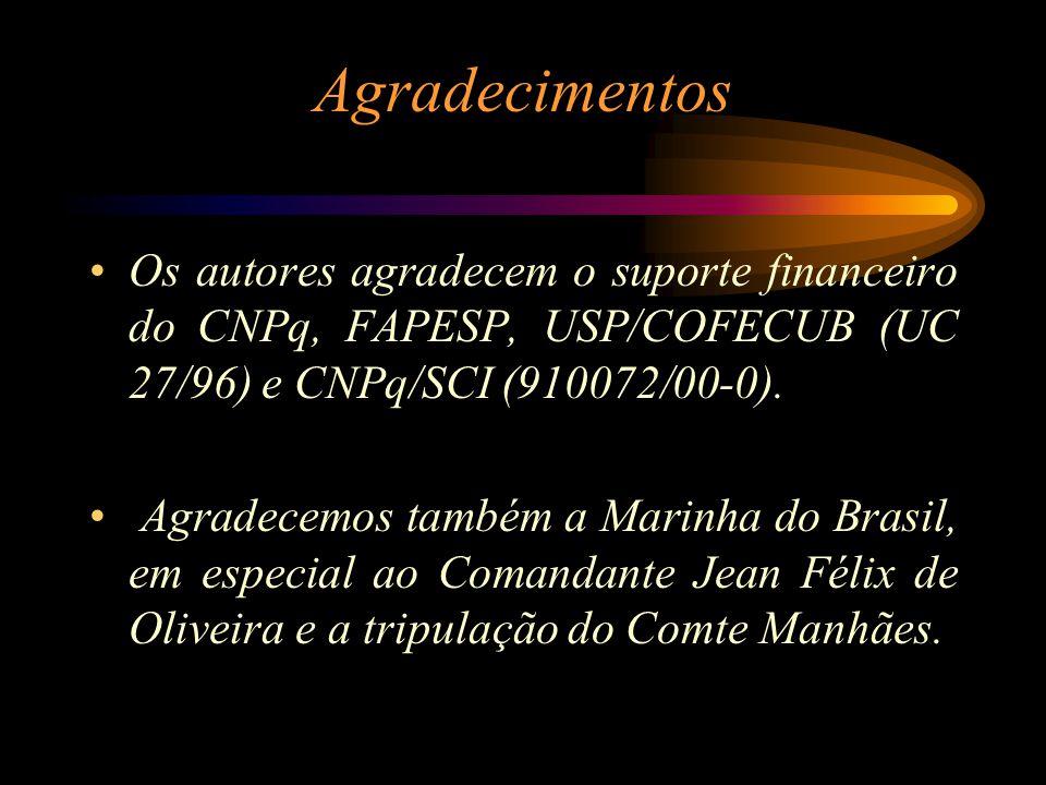 Agradecimentos Os autores agradecem o suporte financeiro do CNPq, FAPESP, USP/COFECUB (UC 27/96) e CNPq/SCI (910072/00-0). Agradecemos também a Marinh
