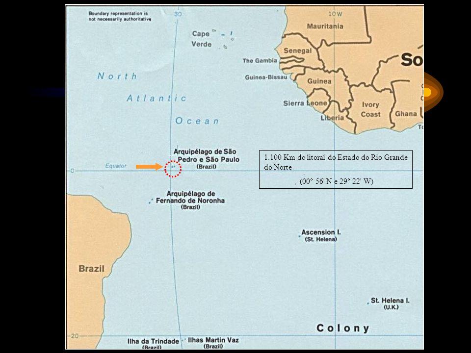 1.100 Km do litoral do Estado do Rio Grande do Norte (00 56' N e 29 22' W)