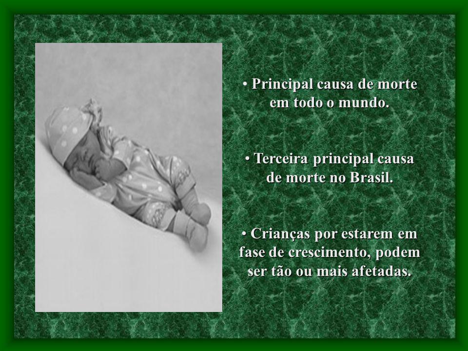 Principal causa de morte em todo o mundo. Terceira principal causa de morte no Brasil. Terceira principal causa de morte no Brasil. Crianças por estar