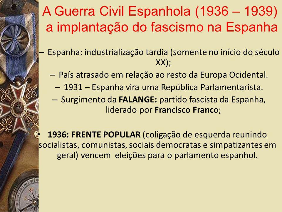 – Espanha: industrialização tardia (somente no início do século XX); – País atrasado em relação ao resto da Europa Ocidental.