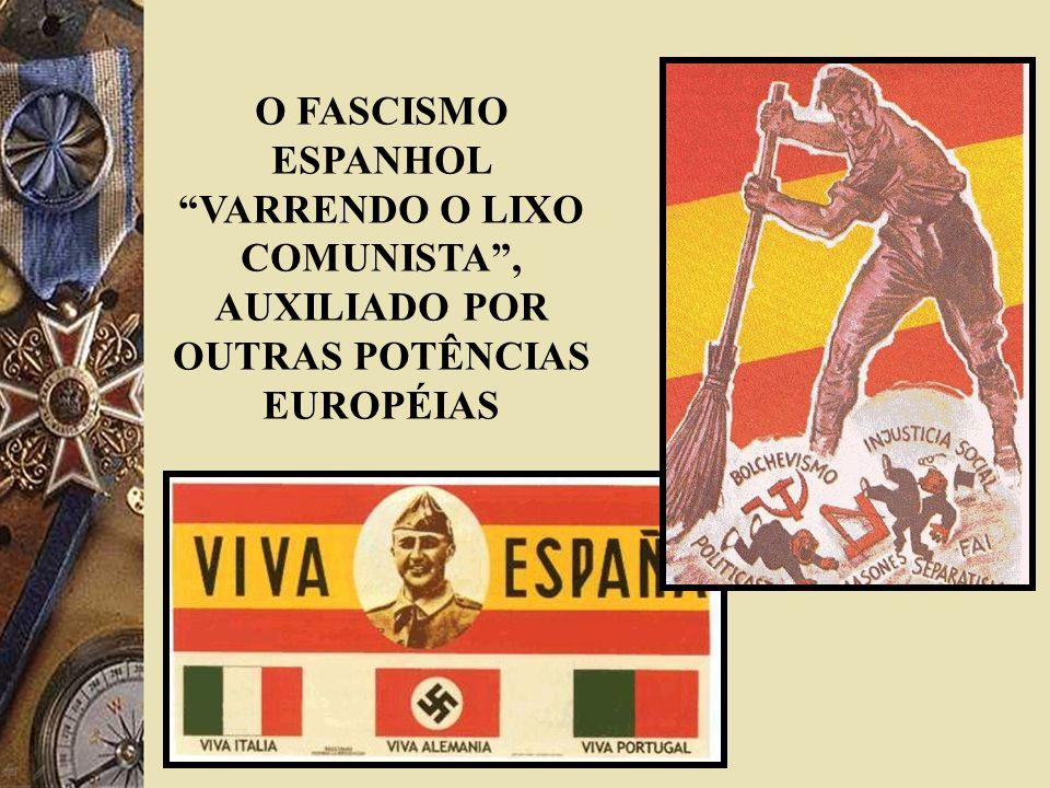 O FASCISMO ESPANHOL VARRENDO O LIXO COMUNISTA, AUXILIADO POR OUTRAS POTÊNCIAS EUROPÉIAS
