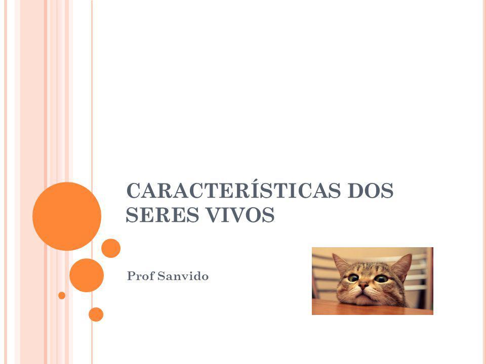 CARACTERÍSTICAS DOS SERES VIVOS Prof Sanvido