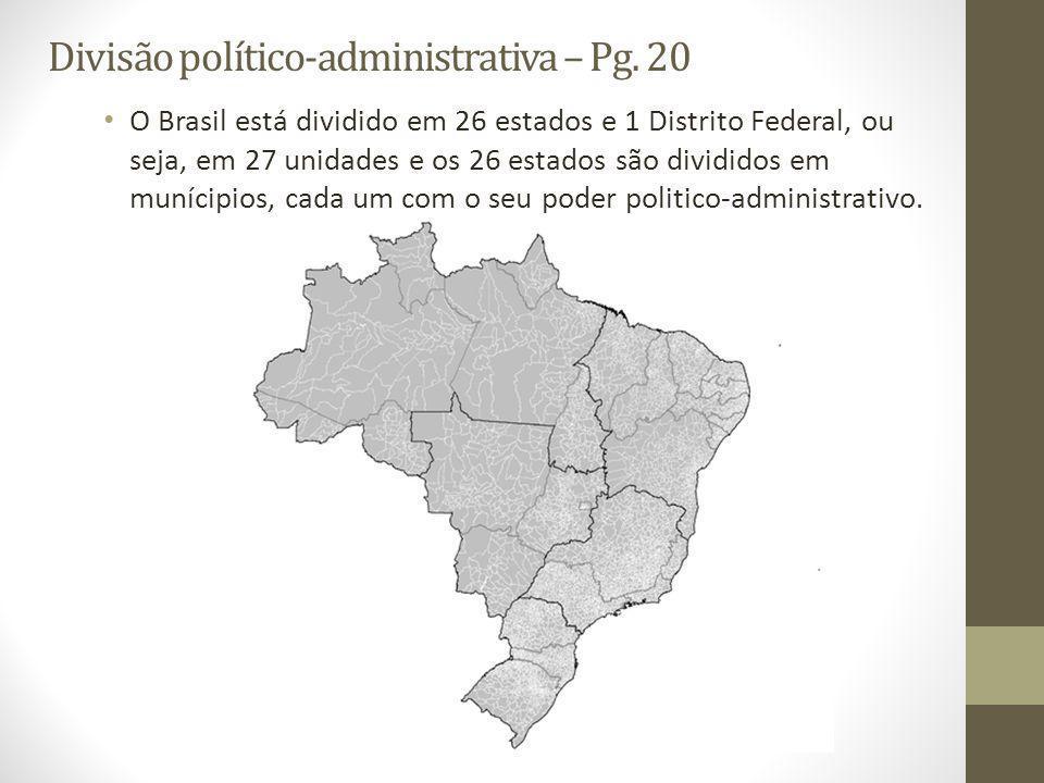 Divisão político-administrativa – Pg.