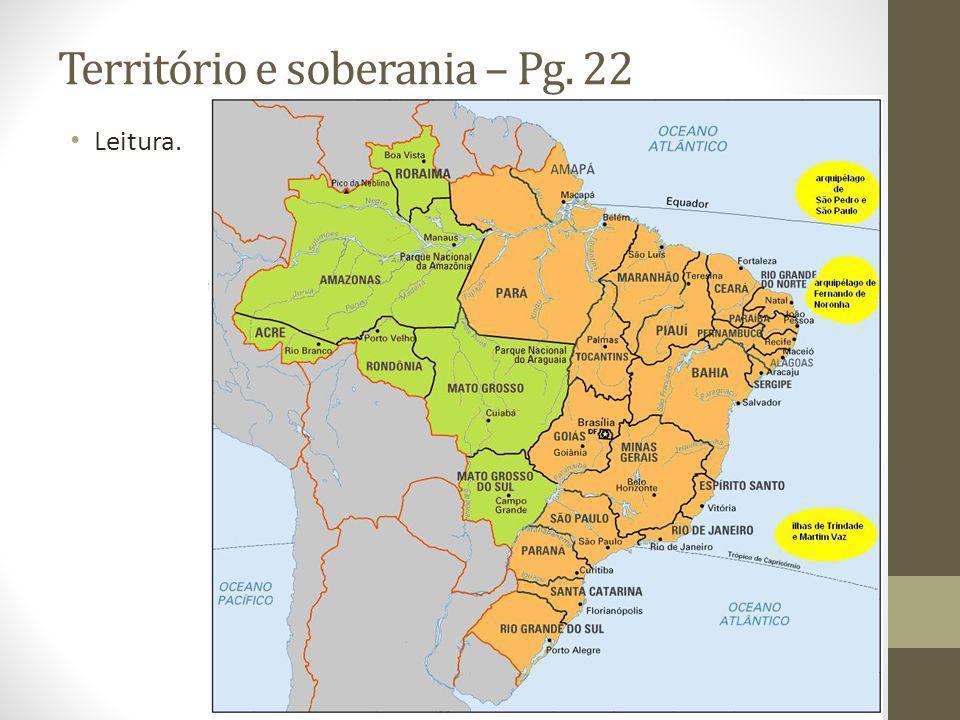 Território e soberania – Pg. 22 Leitura.